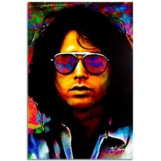 Mark Lewis 'Jim Morrison Insightful Chaos' 22in x 32in Celebrity Pop Art on Plexiglass