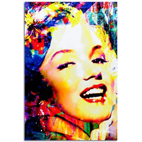 Mark Lewis 'Marilyn Monroe Marilyn Bee' 22in x 32in Celebrity Pop Art on Plexiglass