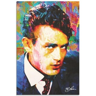 Mark Lewis 'James Dean Lifes Significance' 22in x 32in Celebrity Pop Art on Metal