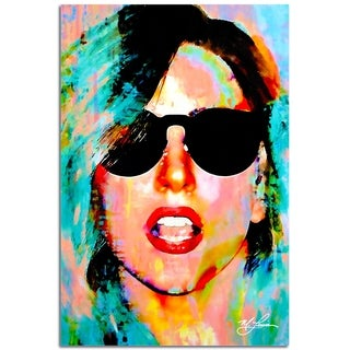 Mark Lewis 'Lady Gaga Everyday Art' 22in x 32in Celebrity Pop Art on Plexiglass