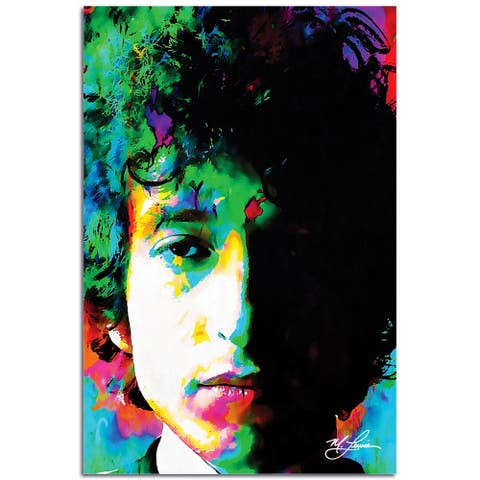 Mark Lewis 'Bob Dylan Natural Memory' 22in x 32in Celebrity Pop Art on Plexiglass