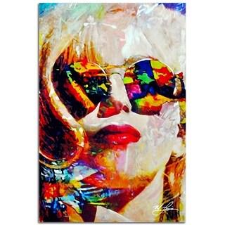 Mark Lewis 'Lady Gaga Study 2' 22in x 32in Celebrity Pop Art on Plexiglass