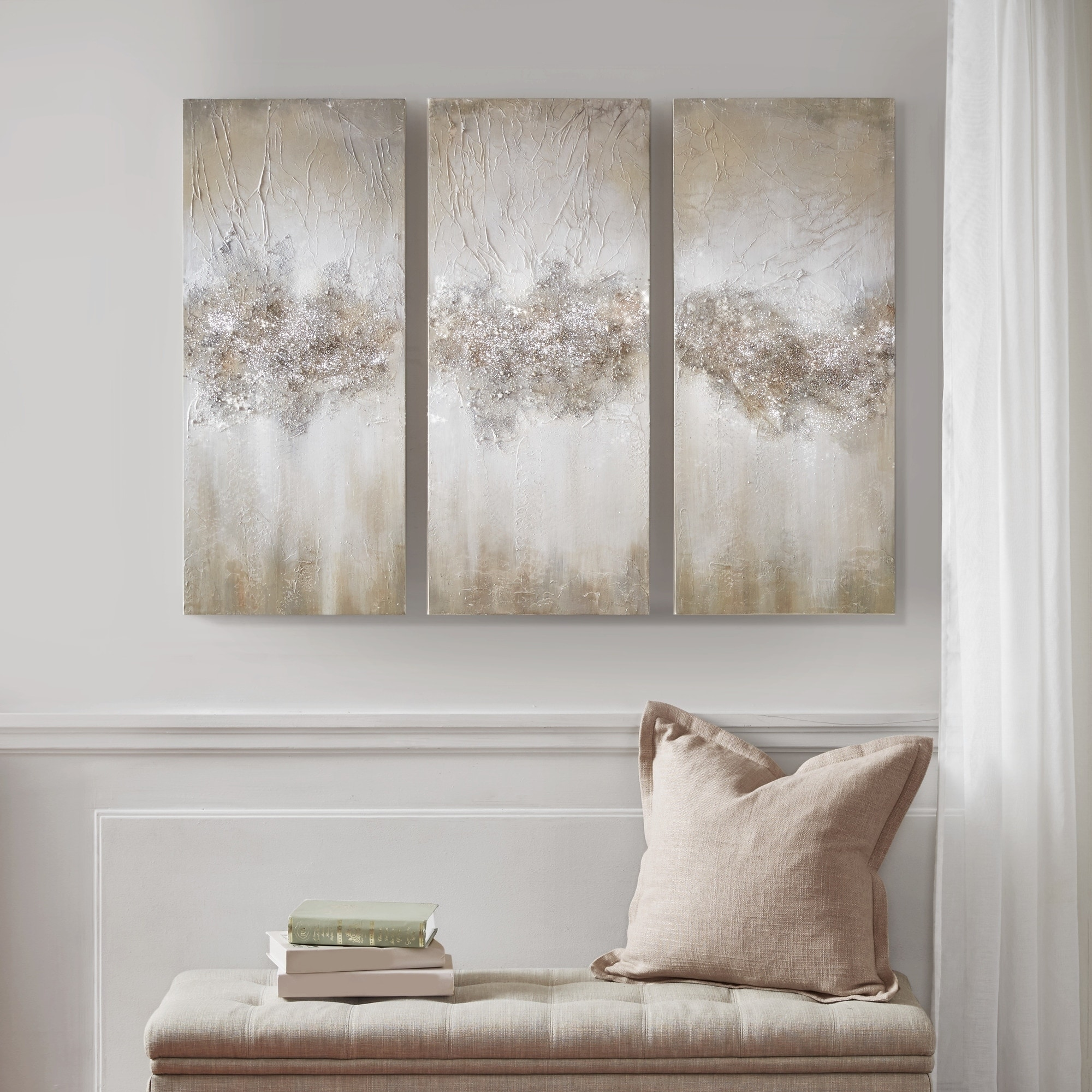 Shop Black Friday Deals On Madison Park Taupe Luminous Hand Painted Canvas Overstock 21898078