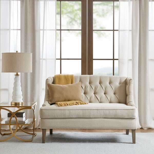 Shop Madison Park Kelso Cream Settee On Sale Free
