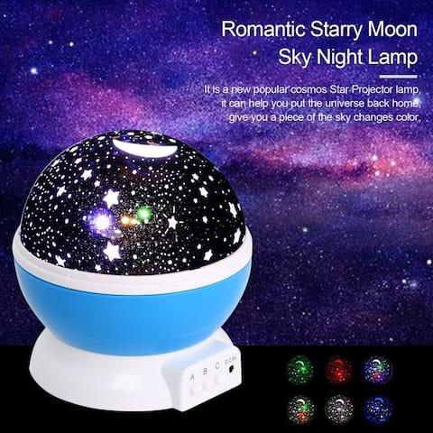 4LED Moon Sky Night Lamp Projector Kid Room Rotate