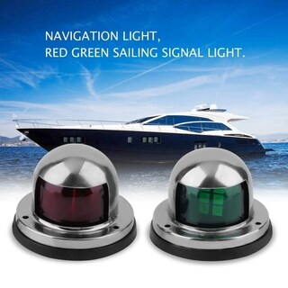 2Pcs Boat 12V LED Navigation Light Red Green Sailing Signal Light