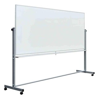 """Offex 96""""x40"""" Double Sided Magnetic Rolling Whiteboard"""