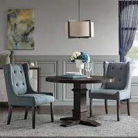 "Madison Park Ragina Blue Dining Side Chair - 24.5""w x 27.25""d x 40.75""h"
