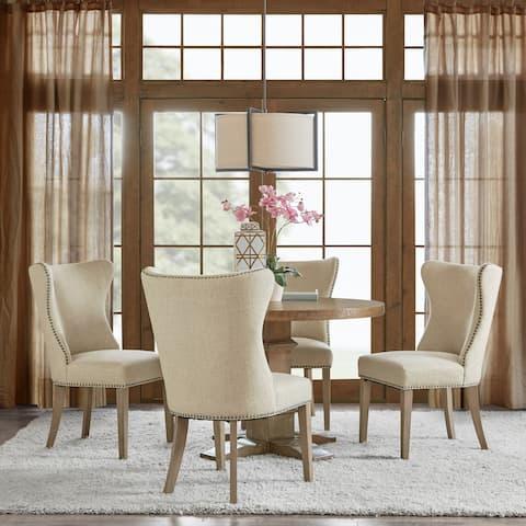 """Madison Park Keeble Cream Dining Side Chair (Set of 2) - 25.25""""w x 25.25""""d x 39""""h - 25.25""""w x 25.25""""d x 39""""h"""