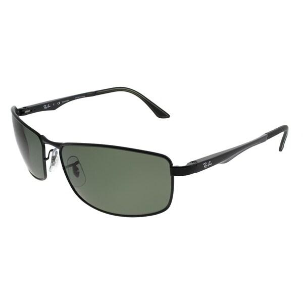 02e51ed66e306 Ray-Ban Sport RB 3498 002 9A Unisex Black Frame Green Polarized Lens  Sunglasses