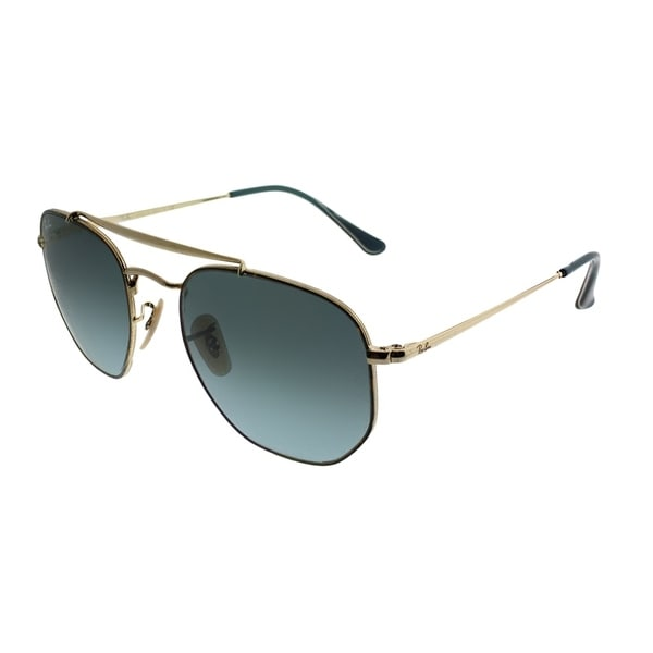 5c65a5b099 Ray-Ban Aviator RB 3648 The Marshal 91023M Unisex Havana Frame Blue Gradient  Lens Sunglasses