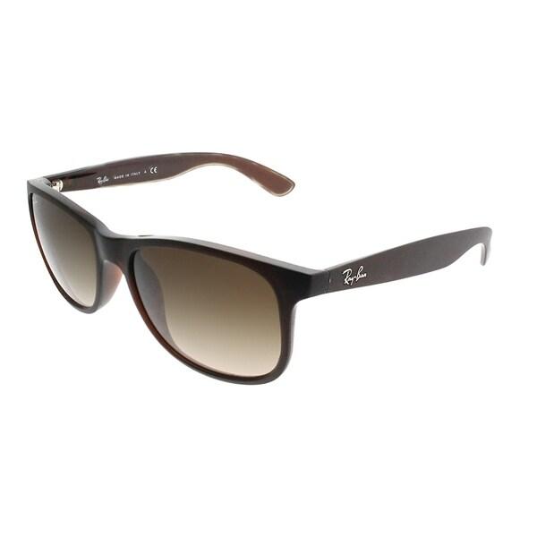 d273296b8d Ray-Ban Wayfarer RB 4202 Andy 607313 Unisex Matte Brown Frame Brown  Gradient Lens Sunglasses