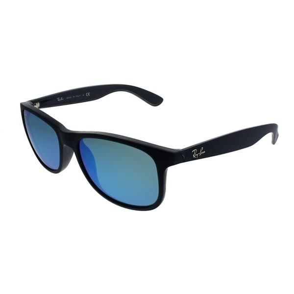 d5c93a8942 Ray-Ban Wayfarer RB 4202 Andy 615355 Unisex Shiny Blue Frame Blue Mirror  Lens Sunglasses
