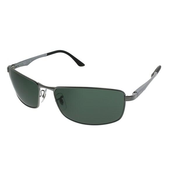 72931ccb2c3 Ray-Ban Sport RB 3498 004 71 Unisex Black Frame Green Lens Sunglasses