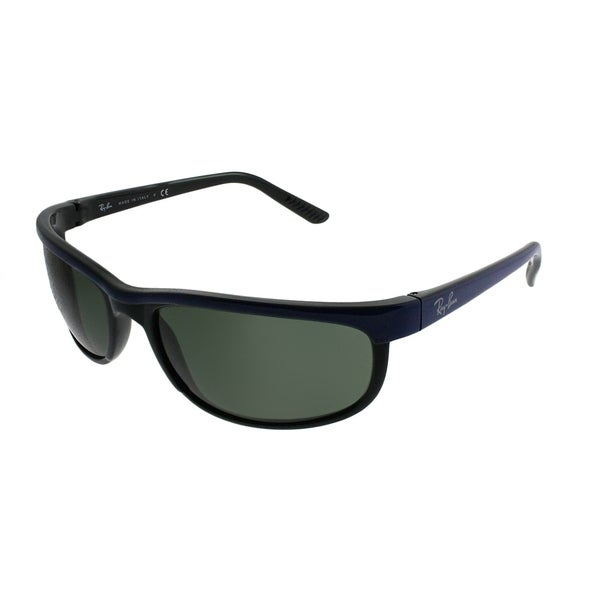 376f451ef8c Ray-Ban Sport RB 2027 Predator 2 6301 Unisex Blue on Black Frame Green Lens