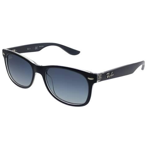 Ray-Ban Junior Wayfarer RJ 9052S 70234L Children Matte Blue On Trasnparent Frame Blue Gradient Lens Sunglasses