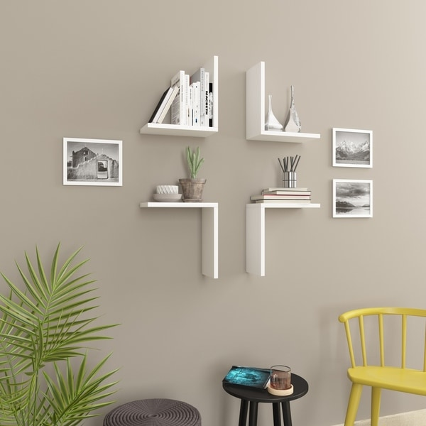 Wesson Modern Wall Shelf, 4-Piece Set