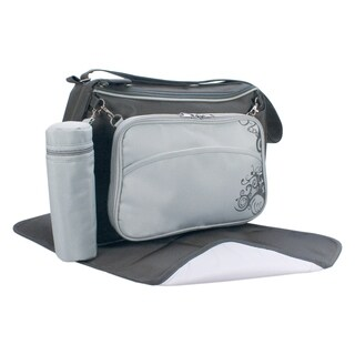 Daddy Approved Diaper Changing Bag, Slate Gray or Chocolate (Option: Grey)