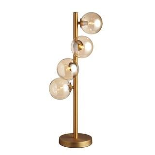 4LT Halogen Table Lamp, Vintage Bronze Finish