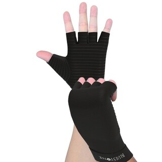Copper Infused Compression Gloves- Odor Control Unisex Compress Support Gloves Bluestone