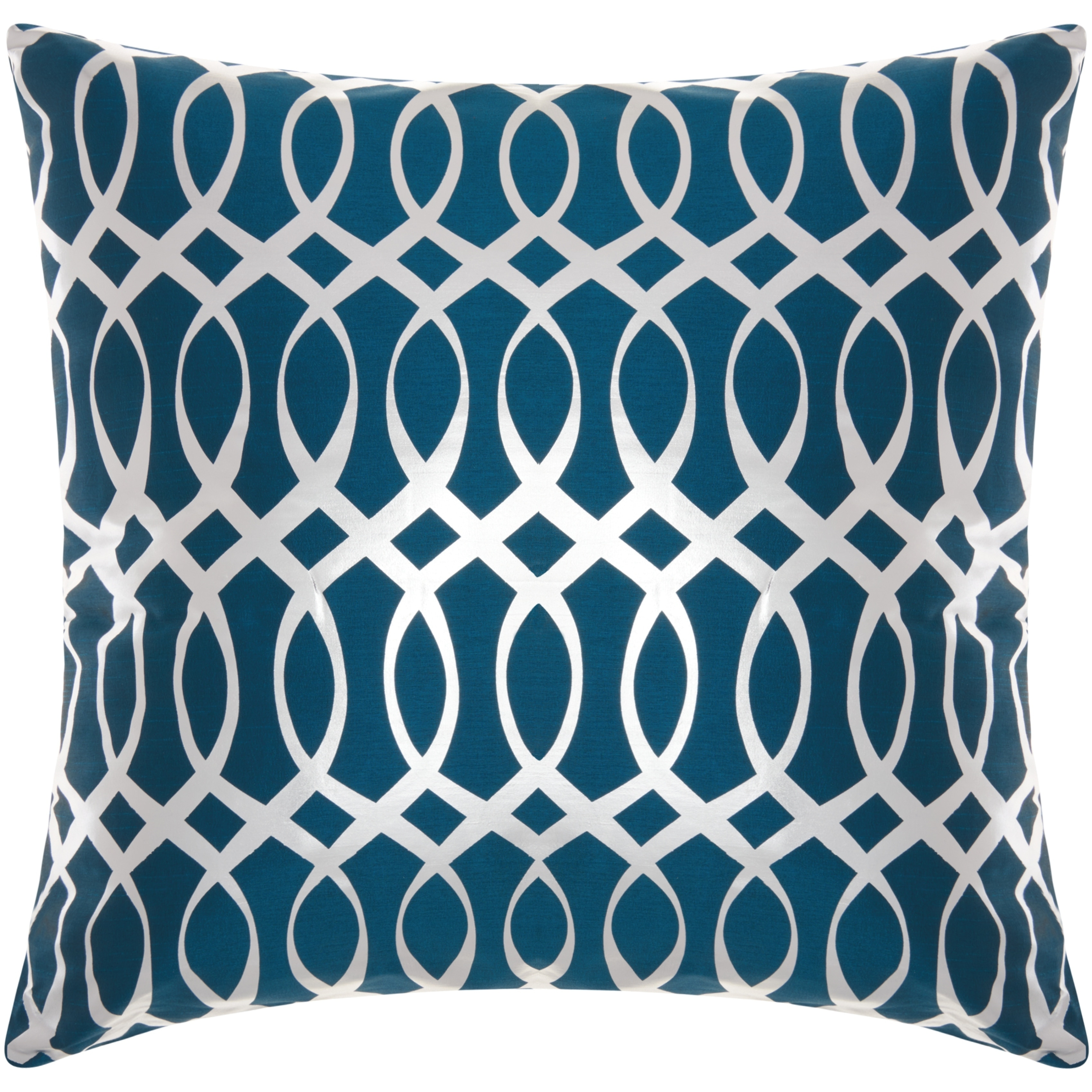 Mina Victory Metallic Infinity Teal Silver 2 Pack Throw Pillow 20 Inch X 20 Inch Overstock 21898969