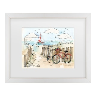 Anne Tavoletti 'Coastal Catch Vi' Matted Framed Art
