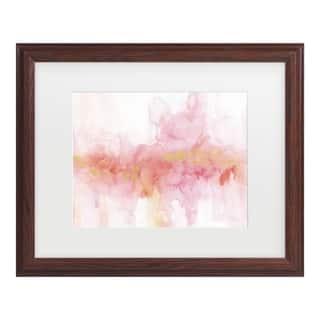 Lisa Audit 'Rainbow Seeds Abstract Gold' Matted Framed Art