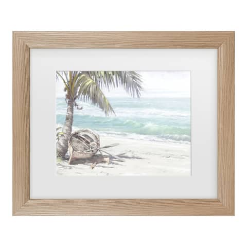 The Macneil Studio 'Boat On Beach' Matted Framed Art
