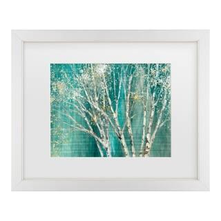 Julia Purinton 'Blue Birch' Matted Framed Art