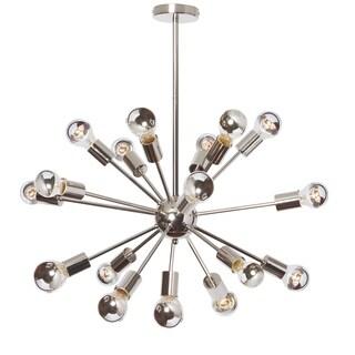 Dainolite 18-light Polished Chrome Satellite Chandelier with Chrome Bulbs