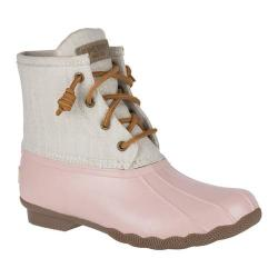 Women's Sperry Top-Sider Saltwater Duck Boot Rose Rubber/Oat Canvas