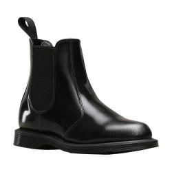 Women's Dr. Martens Flora Chelsea Boot Silver Arcadia Rub-Off Leather