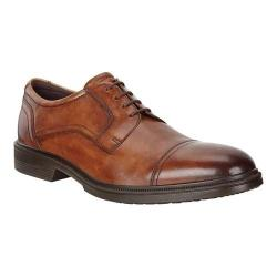 Men's ECCO Lisbon Cap Toe Tie Oxford Amber Leather