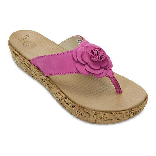 0c00c8d856033 Shop Women s Crocs A-Leigh Floral Flip-Flop Orchid Gold - Free Shipping  Today - Overstock - 18818450