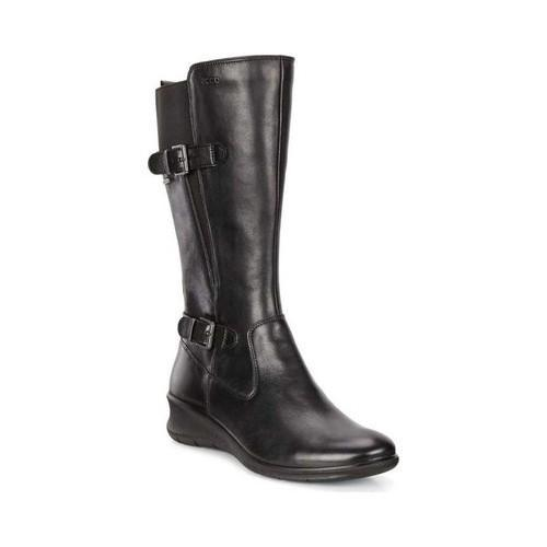 f396c91ca5c Shop Women s ECCO Babett Wedge GORE-TEX Boot Black Leather - Free Shipping  Today - Overstock - 18818441