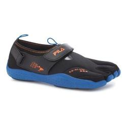 Men's Fila Skele-Toes EZ Slide Drainage Black/Turkish Sea/Vibrant Orange (2 options available)