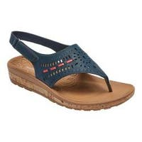 Women's Rockport Keona Perfed Slingback Navy Smooth Leather