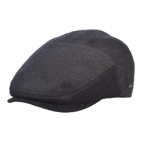 Shop Men s Stetson STW212 Flat Cap Charcoal - Free Shipping Today -  Overstock - 18819755 f52b0d66537a