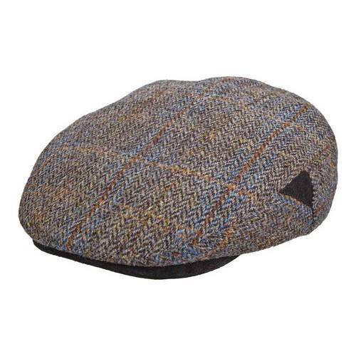 Shop Men s Stetson STW281 Harris Tweed Flat Cap Grey - Free Shipping Today  - Overstock.com - 18819774 c8a9e6368578