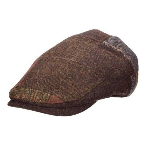 ab9d383559c Shop Men s Stetson STW287 Blend Patch Flat Cap Brown - Free Shipping On  Orders Over  45 - Overstock - 18819779