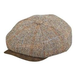 Men's Stetson STW280 Harris Tweed Newsboy Cap Brown