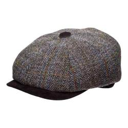 Men's Stetson STW280 Harris Tweed Newsboy Cap Grey