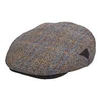 Men's Stetson STW281 Harris Tweed Flat Cap Grey