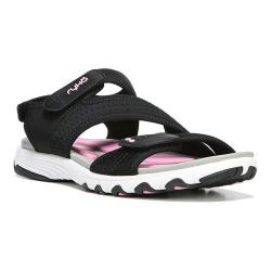 Women's Ryka Dominica Active Sandal Black/Cotton Candy/Chrome Silver