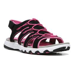 Women's Ryka Glance SML Sandal Black/Athena Pink