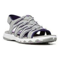 Women's Ryka Glance SML Sandal Ivan the Grey/Cool Mist Grey/English Lavender