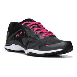 Womens Ryka Grafik 2 Training Sneaker Black Iron Grey Athena Pink