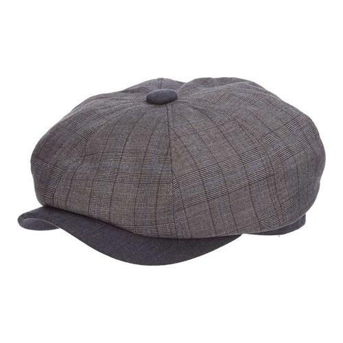 caf754f567be6 Shop Men s Stetson STC299 Plaid Newsboy Cap Grey - Free Shipping Today -  Overstock - 18821986