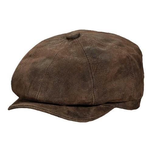 61be3402d5ef58 Shop Men's Stetson STW199 Weathered 8/4 Newsboy Cap Brown - On Sale - Free  Shipping Today - Overstock - 18821998