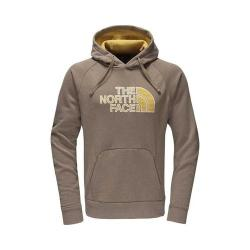 7162ed128 Men's The North Face Avalon Half Dome Hoodie Falcon Brown Heather/Arrowwood  Yellow Stripe | Overstock.com Shopping - The Best Deals on Shirts